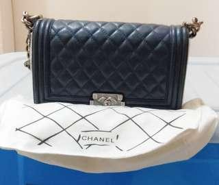 Chanel Le Boy Lambskin Navy
