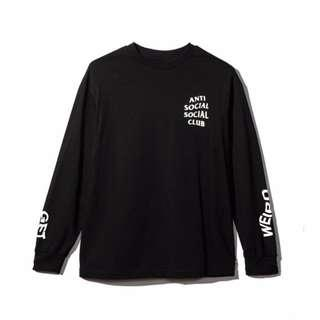 🚚 Anti Social Get Weird Long Sleeve Black