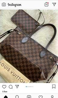 Neverful Damier with pouch pm size