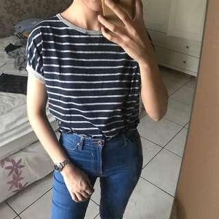 Navy Stripes Top