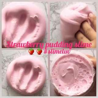 🚚 Strawberry pudding slime🍓🍓