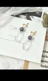 🚚 韓風氣質夾式耳環