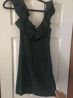Green minidress 10