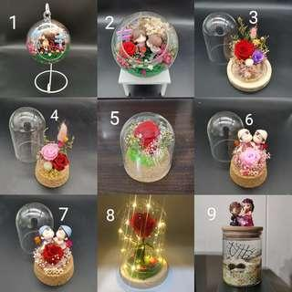 preserved flowers gift set