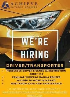 Hiring: Driver or Transporter