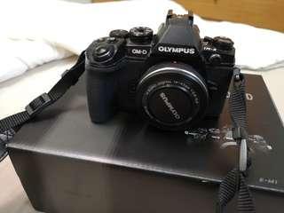 Olympus E-m1 body and m.zuiko 14-42mm lens
