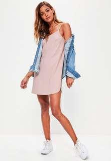 Pink cami shift dress
