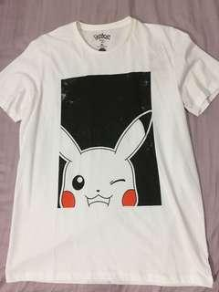 Pikachu Black White Pokemon Shirt Nintendo licensed