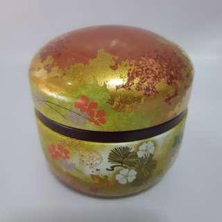 Mini box motif Bunga Sakura/kotak serbaguna bahan kaleng/souvenir japan