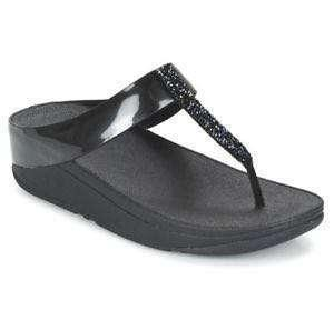Fitflop Fino Crystal Toe-Post Sandals (💯% Authentic)