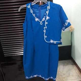 Blue Dress One Set