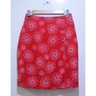 JOYO Floral Button Pencil Skirt