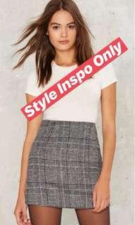 Primark Plaid Skirt Large