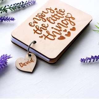 Personalized Notebook, Engraved with name,Gift for Him/Her, Anniversary, Travels, Journal, Diary, Custom Notepad, Custom Notebook,Sketchbook