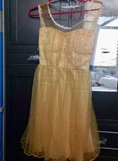 Golden Laced Dress