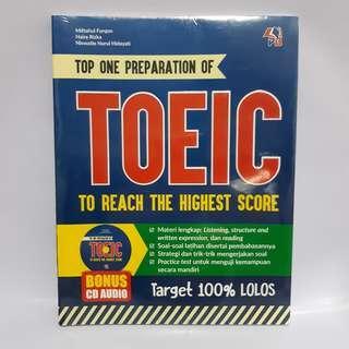 Buku Top One Preparation of TOEIC to reach high score