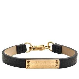 💚現貨💚Marc by Marc Jacobs leather bracelets black oro 黑金色真皮手帶