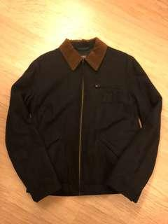 APC chic vintage wool navy jacket size XS