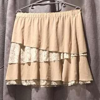 Nude Skirt Lace Plus Size