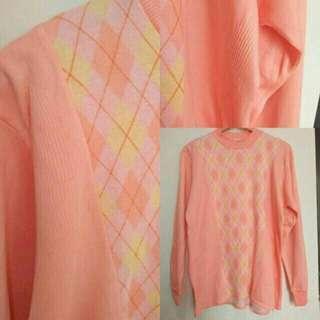 Oversized sweater peach