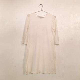 #CNYSALE #20OFF FOREVER 21 Off-White Lace Dress