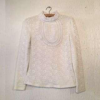 #CNYSALE #20OFF UNBRANDED Lace Long-Sleeved Top