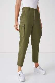 Cotton On Khaki Nika Utility Pants