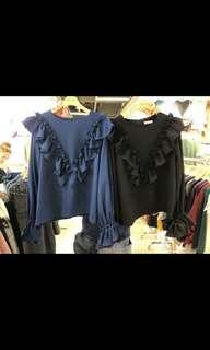 Made in Korea 韓國衫 韓國🇰🇷牌子 Musk blue top 上衣