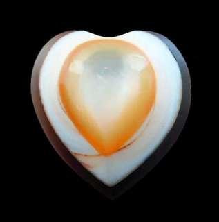 Crafted natural big Shell Pearl Agate doublet Heart