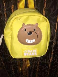 tas ransel we bare bears miniso yellow