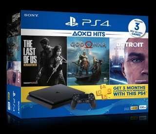 PS4 Slim Black 500gb bundle