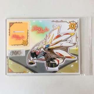 🚚 BN Pokemon Center Lilie and Solgaleo Acrylic Standee/Keychain