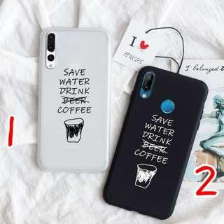 Coffee words phone case