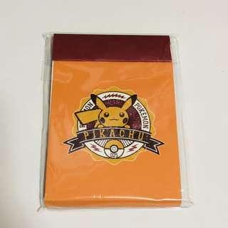 🚚 BN Pokemon Center Pikachu Notepad
