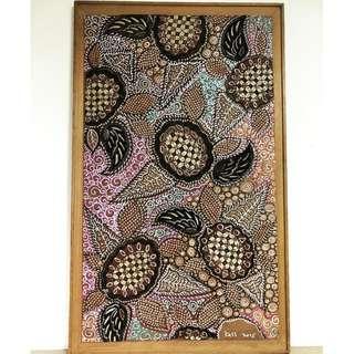 Wood Art : Batik Motif Painting
