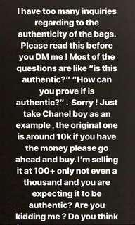 Please READ this before you DM me about the bags. Thank you