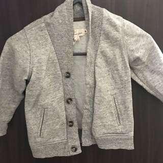 小童外套 90碼 男女合用 灰色綿質