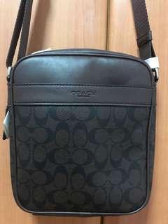 🚚 Coach Coffee Brown Messenger Bag