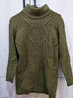 🚚 綠色彈力十足毛衣上衣#綠色