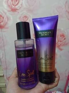 Parfume Victoria Secret Love Spell & Lotion Parfume