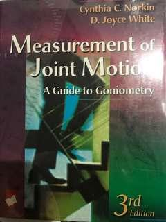 Norkin's Measurement of Joint Motion 3rd edition