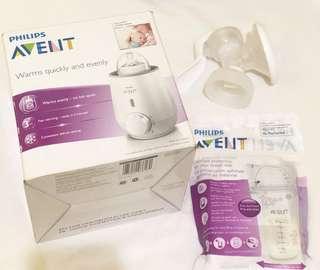 Take all Avent Warmer + Breast Pump + Storage Bag