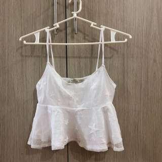 Bershka White Cami Top