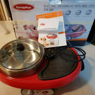 EuropAce steamboat with bbq grill