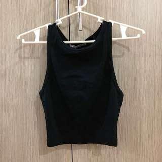 Zara Black Tank Top Crop