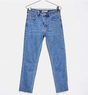 Bershka straight cropped jeans