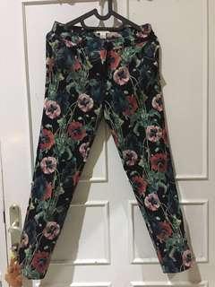Long pants floral