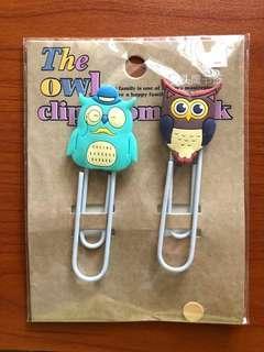 Owl clip bookmark