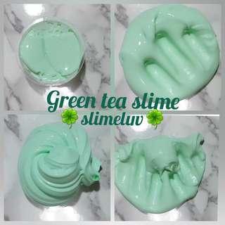 Green tea slime