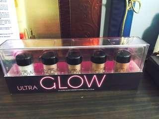 Ultra glow shimmer powder set